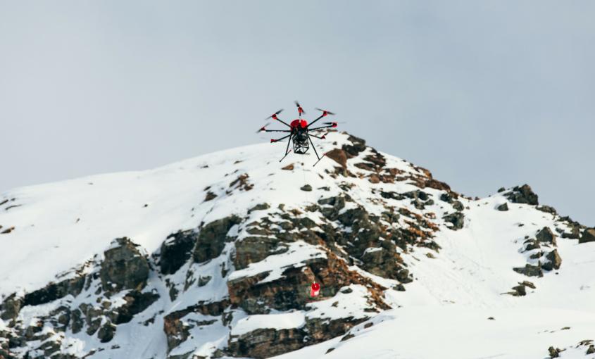 Sistema SNIPER, drone NSIPER, disgaggio valanghe