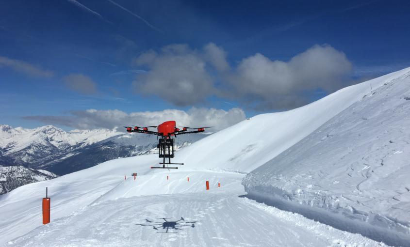 Sistema SNIPER, Drone SNIPER, Drone distacco valanghe, Via Lattea, Sestriere